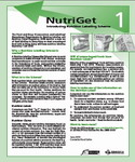 NutriGet 1- Introducing Nutrition Labelling Scheme