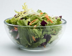 Pathogens such as Salmonella can be found in vegetable salad